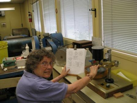 One of our members doing Faceting.