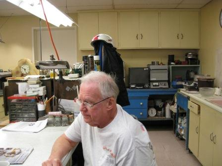 Nelson Melville at his desk - one of our long time supervisors.