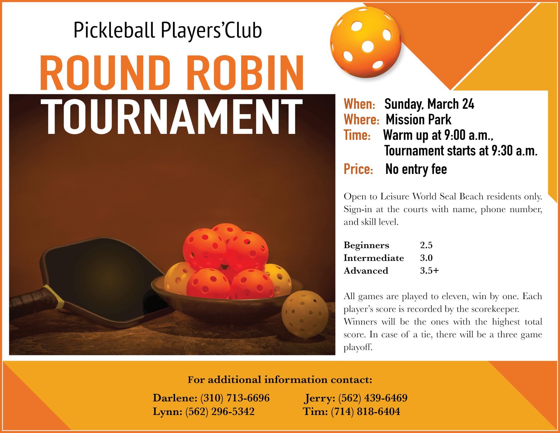 Pickleball flyer 03-24