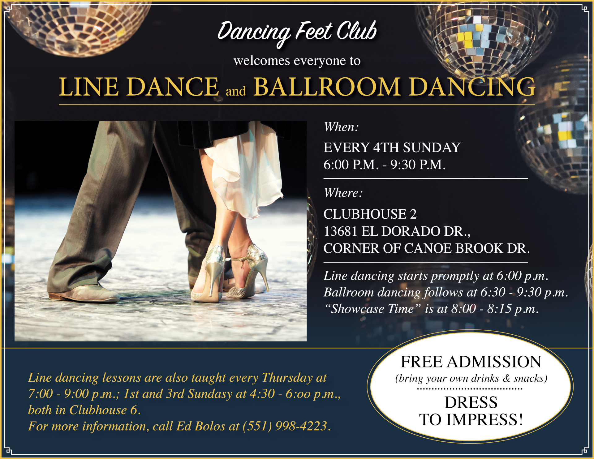 Happy feet club flyer