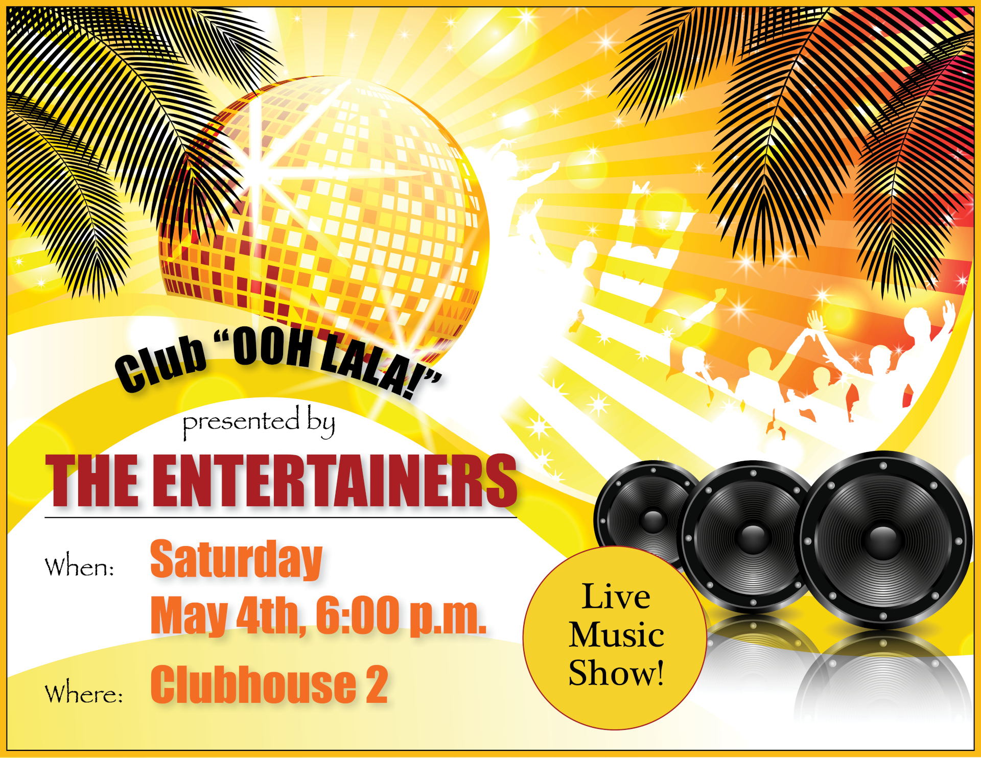 The entertainers flyer 05/04
