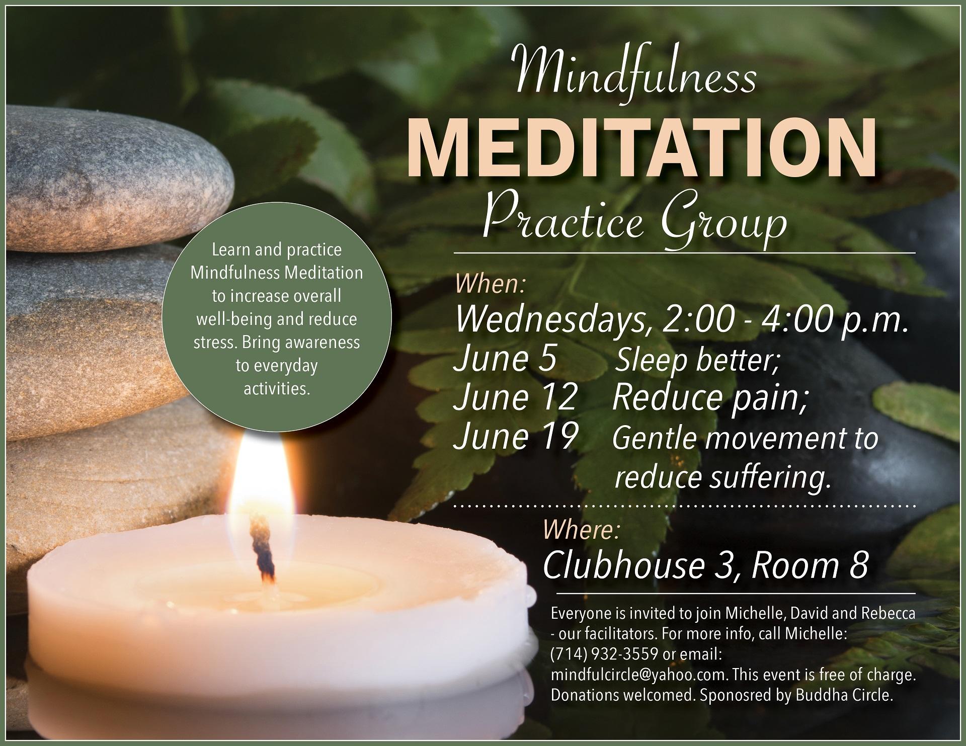 Meditation flyer