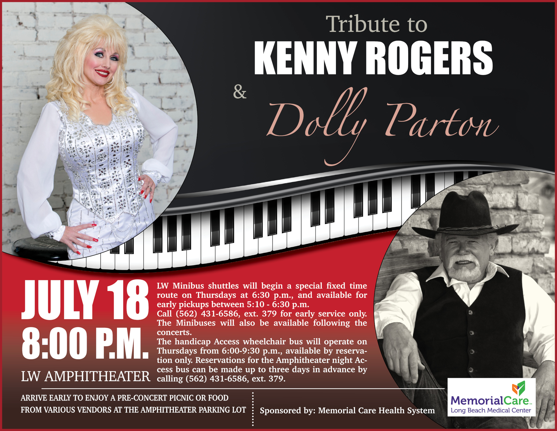 Kenny & Dolly tribute flyer 07-18