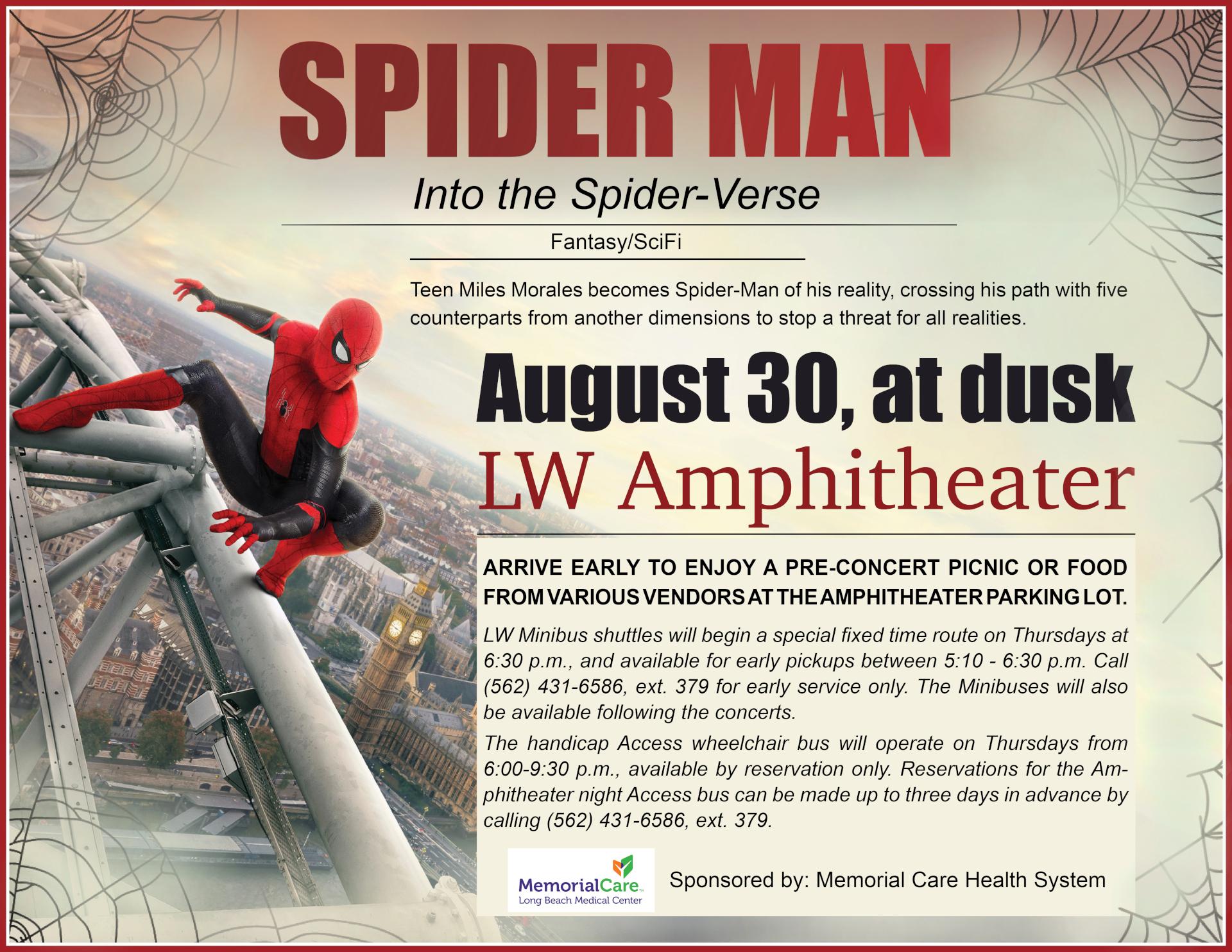 Spider man flyer 08-30